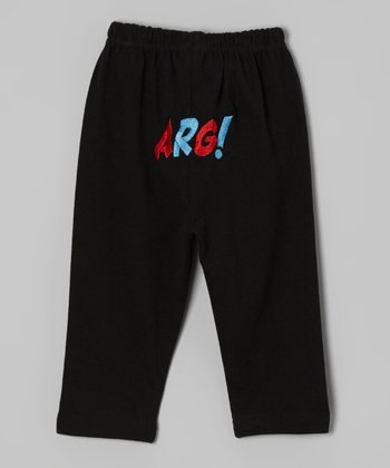 Black 'Arg!' Pants - Infant & Toddler