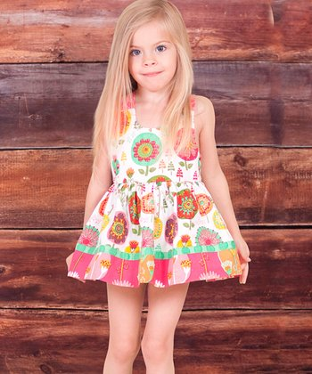 White Fiorito A-Line Dress & Bloomers - Infant