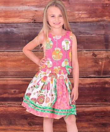 Fiorito Annabelle Skirt Set & Bow Clip - Infant, Toddler & Girls