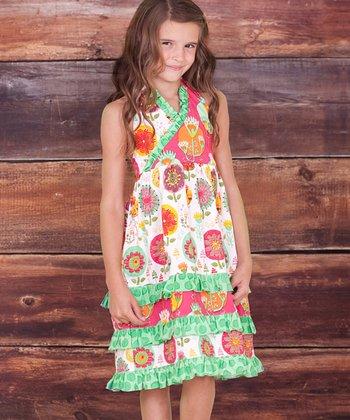 White Fiorito Miranda Surplice Dress - Infant, Toddler & Girls