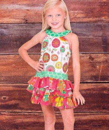 White Fiorito Stephanie Ruffle Dress - Infant