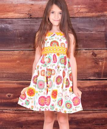 White Collar Fiorito Kelsea Dress - Infant, Toddler & Girls