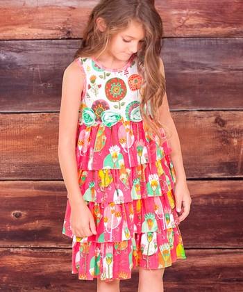 Fuchsia Fiorito Kristi Ruffle Dress - Infant, Toddler & Girls