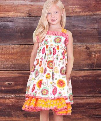 White Fiorito Babydoll Dress - Infant & Toddler