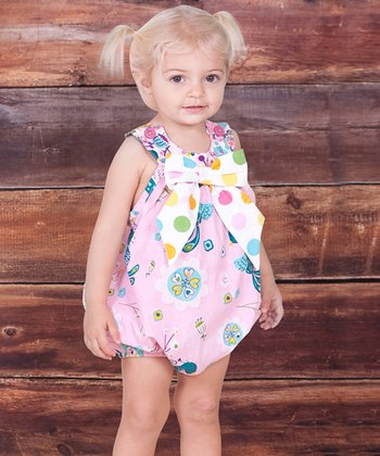 Pink Bow Allegria Romper - Infant