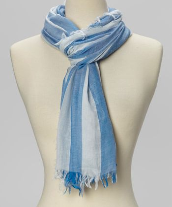 Blue & White Stripe Scarf