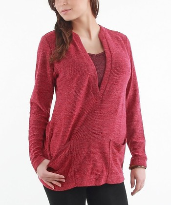 Fuchsia Maternity & Nursing Sweater - Women