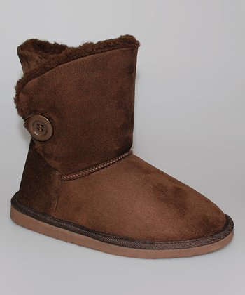 Chocolate Button Boot - Women