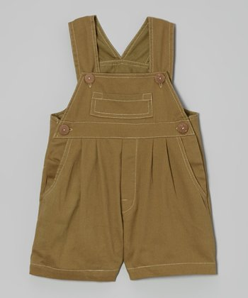 Green Camo Twill Overalls - Infant