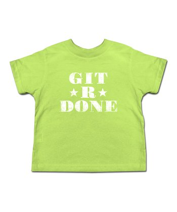 Key Lime 'Git-R-Done' Cable Guy Tee - Toddler & Boys