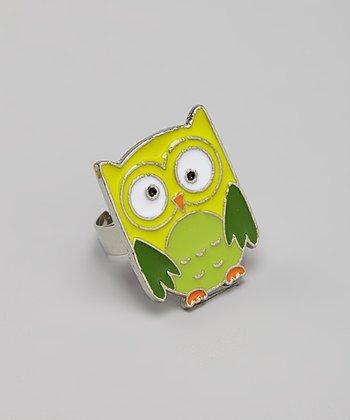 Green Owl Ring