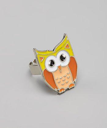 Orange Owl Ring