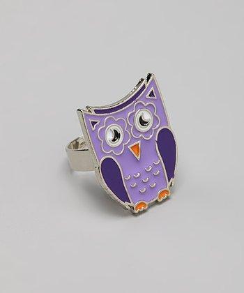 Purple Owl Ring