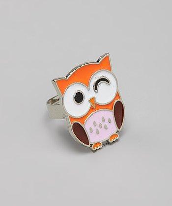 Orange & Purple Owl Ring