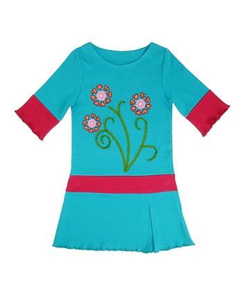 Parrot Flower Drop-Waist Dress - Toddler & Girls