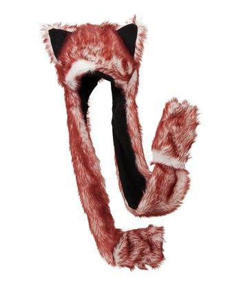 Red & White Critter Mitten Beanie