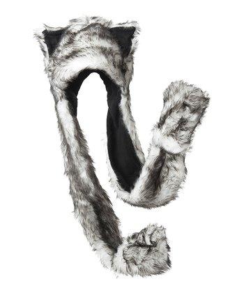 White & Black Critter Mitten Beanie