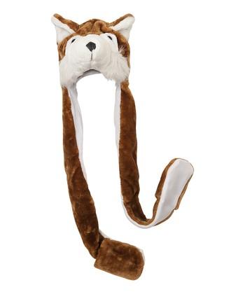 Brown Fox Mitten Beanie