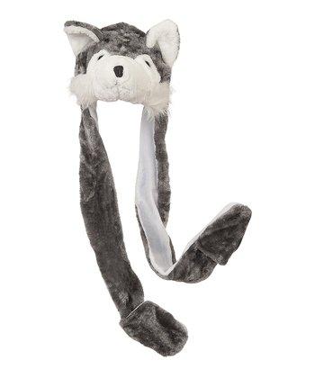 Gray Wolf Mitten Beanie
