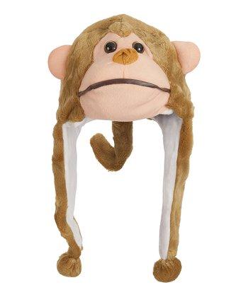 Beige Monkey Earflap Beanie