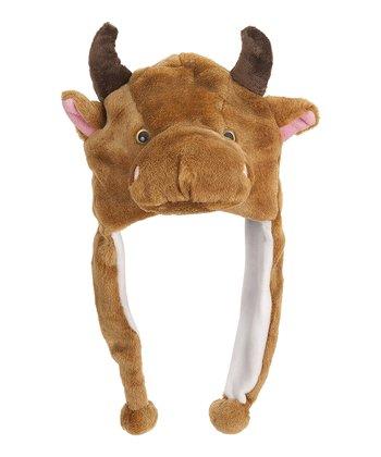 Brown Bull Earflap Beanie