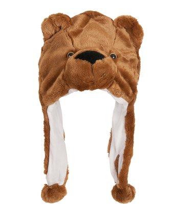 Brown Bear Earflap Beanie