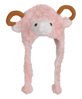 Pink Lamb Earflap Beanie