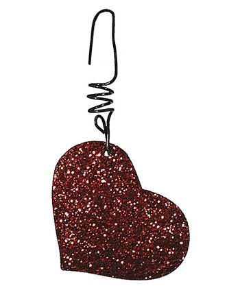 Red Glitter Heart Ornament