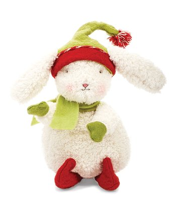 Cream & Red Elfish Bun Bun Plush Toy