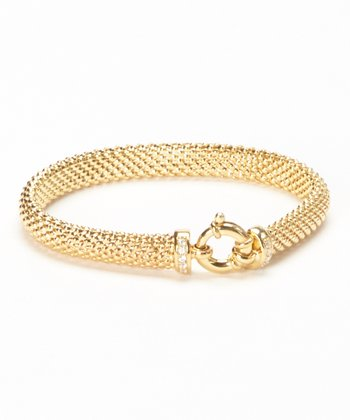 Yellow Gold Sparkle Popcorn Bracelet