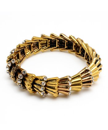 Antique Gold Sparkle Grace Stretch Bracelet
