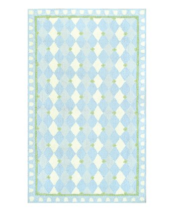 Blue & Green Harlequin Rug