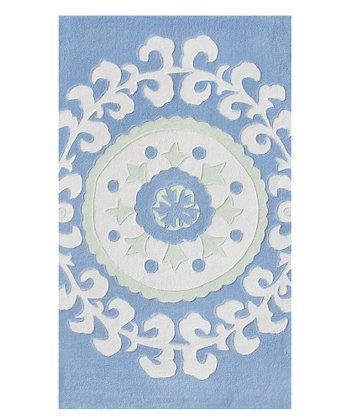 Blue & White Suzani Rug