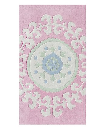 The Rug Market Pink & White Suzani Rug