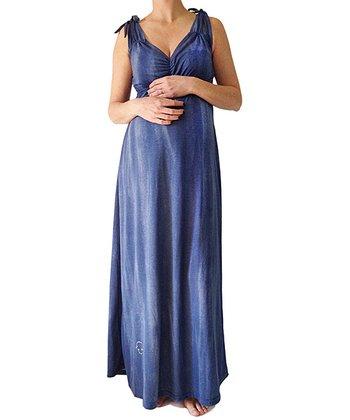 Navy Midnight Maternity & Nursing Maxi Dress