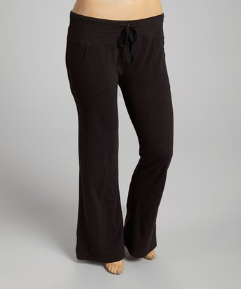 Black Pocket Lounge Pants - Plus