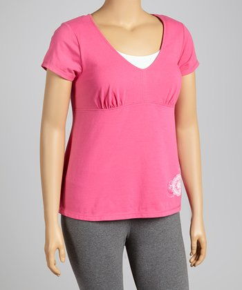 Hot Pink Layered Tee - Plus
