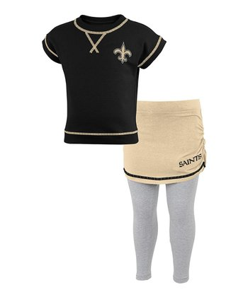 New Orleans Saints Tee & Skirted Leggings - Toddler & Girls
