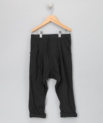 Black Claremont Pants - Toddler & Boys