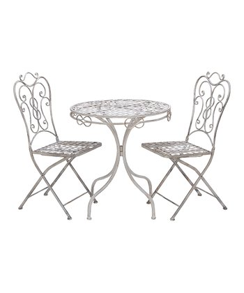 White Bistro Table & Chair Set