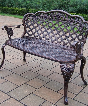 Antique Bronze Rose Loveseat