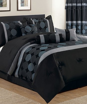 Black & Blue Luxury Comforter Set