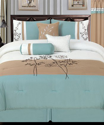 Aqua Luxury Comforter Set