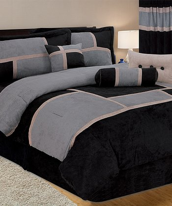 Brown & Black Luxury Comforter Set