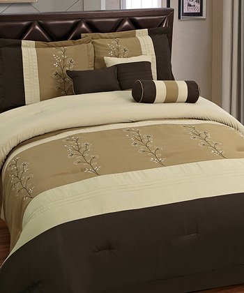 Brown & Tan Luxury Comforter Set