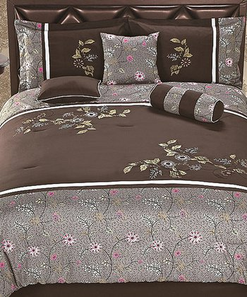 Brown & Gray Luxury Comforter Set