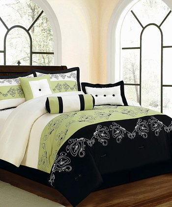 Sage & Black Luxury Comforter Set