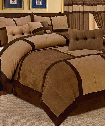 Light Brown Luxury Comforter Set