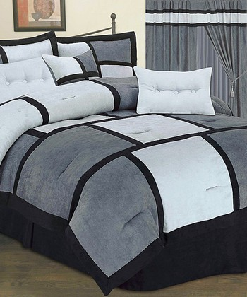 Dark Gray Luxury Comforter Set