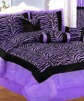 Purple & Black Luxury Comforter Set
